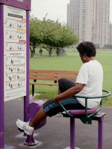 playground pal on stationary bike